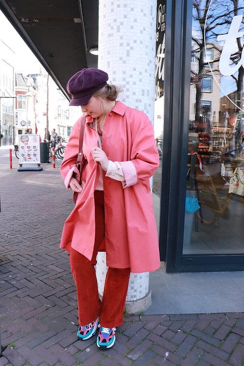 Vintage blush trenchcoat