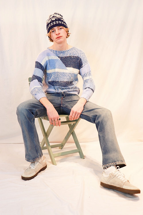 Vintage knit met mohair
