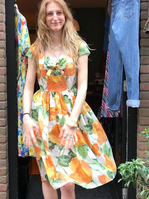 1960s lichte see through dress