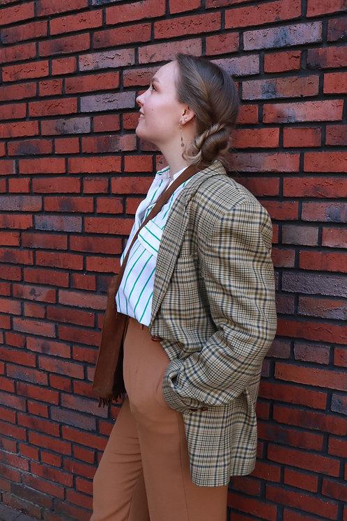 Vintage geruite blazer
