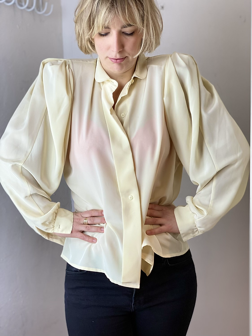 80s puffy wide arm blouse