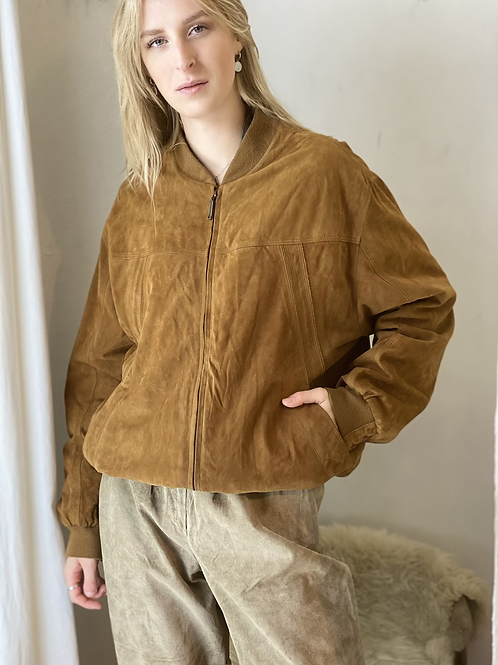 Suede bomber jas - gender neutral
