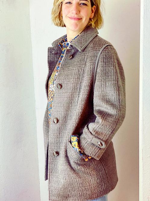 Vintage jas alpaca wol