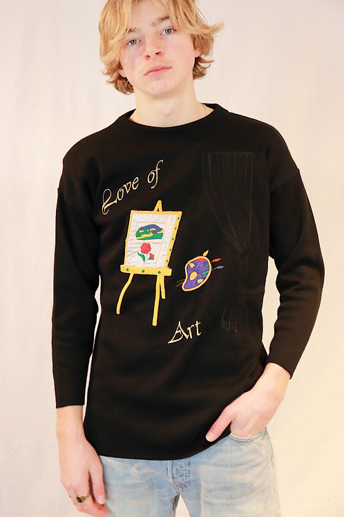 90s sweater - for the love of art