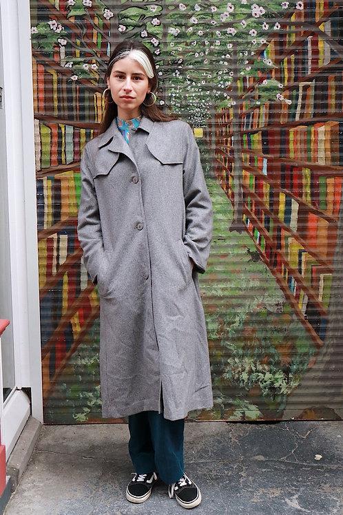Vintage grijze mantel - in between coat
