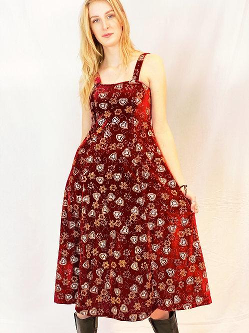 Exclusive velours 70s dress