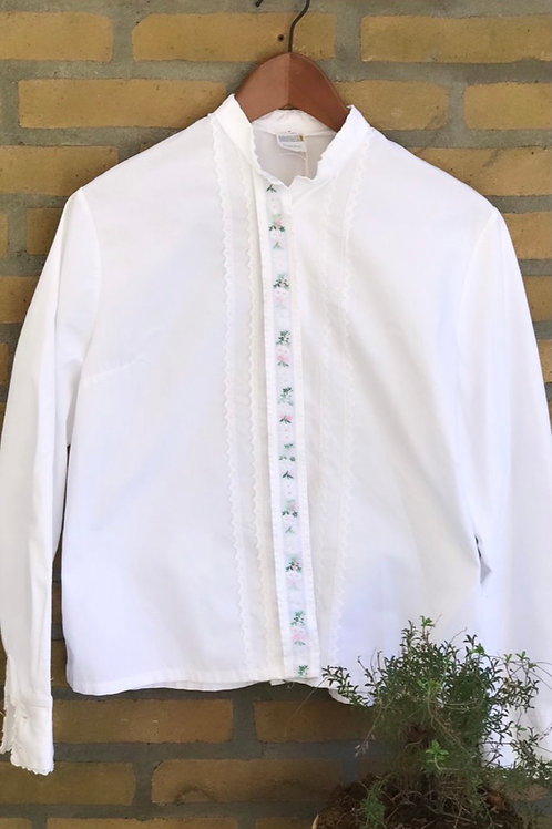 80s embroidery blouse
