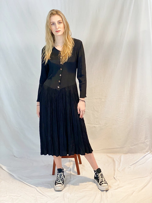 Zwart vintage jurkje