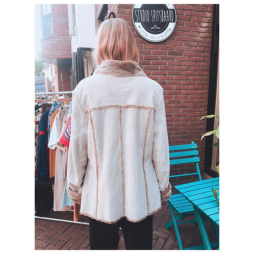 90s faux fur lammy coat