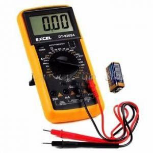 Avometer digital multimeter to check and measure the electrical current