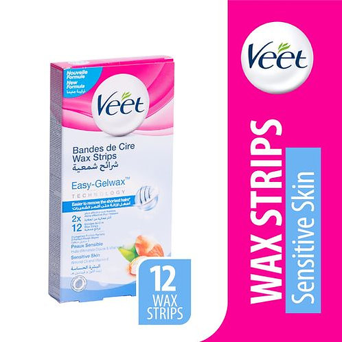 Wax strips for sensitive skin - 12 pieces