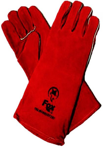 Fire gloves, length 40 cm red color