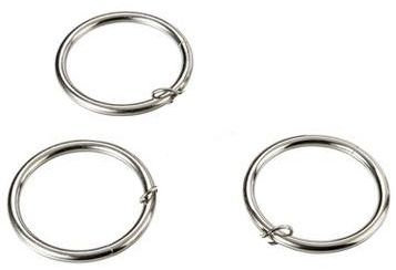 Curtain rings silver color