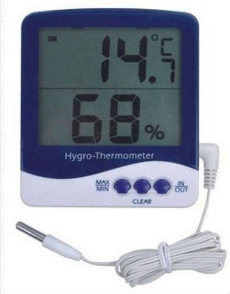 جهاز حراره ورطوبه بحساس حرارة خارجى شاشة عرض كبيرة