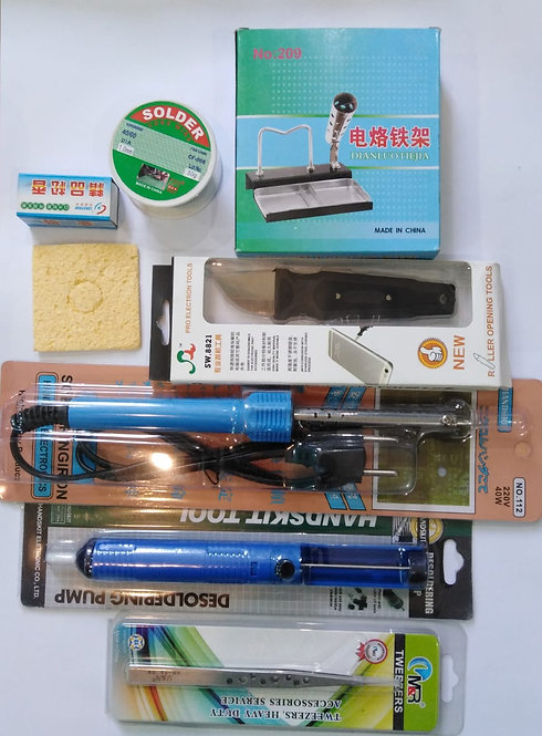 Repair kit Mobile Code 00112 consists of 8 pieces