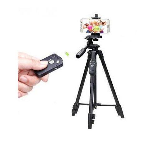 حامل ثلاثي للكاميراو الموبايل - أسود