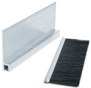 Door barrier length 120 cm, white brush, 5 pieces