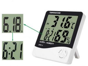 جهاز قياس درجه الحراره و الرطوبه HTC1