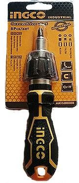 Ingco screwdriver and 8-piece socket and screwdriver kit by Ingco
