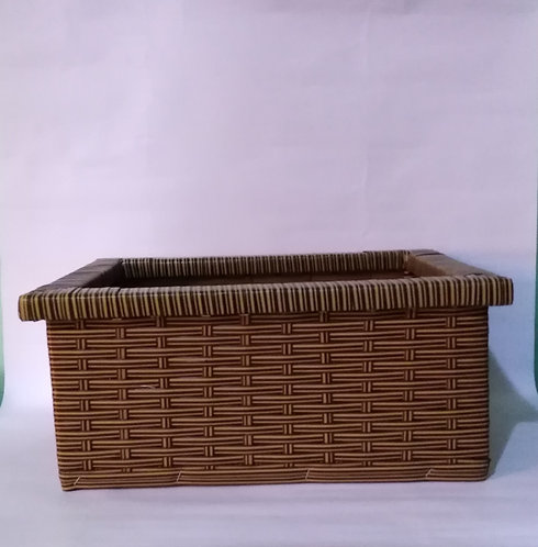Decorative storage sat brown color