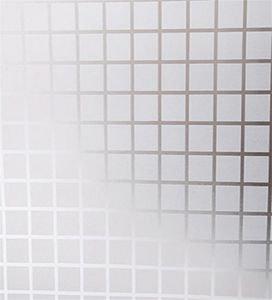 ستيكر زجاجي منقوش مربعات صغيره