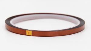 Thin, heat-resistant transparent adhesive tape