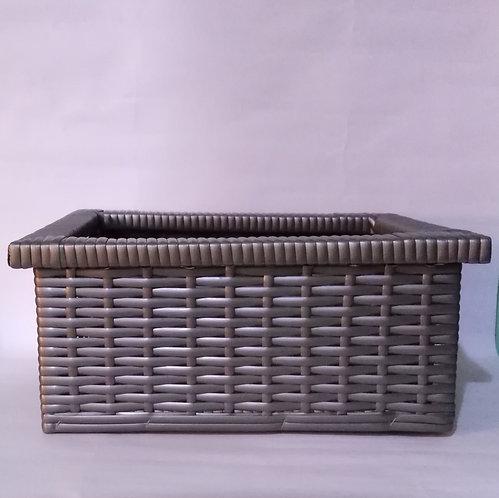Decorative storage in gray color