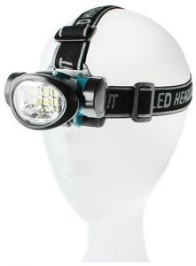 LED headlamp with 9 LED bulbs