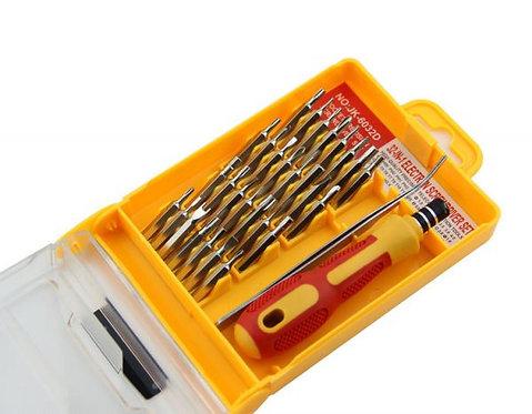 طقم مفكات عادة وصليبة وسداسى ونجمه 32 قطعة