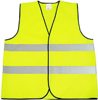 Safety Fabric Reflective Vest - Yellow