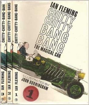 "Cover from Ian Fleming's original book of ""Chitty Chitty Bang Bang"""