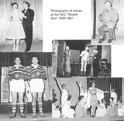 Photos of Pied Pipers shows at the ADC Theatre Cambridge from 1958-67