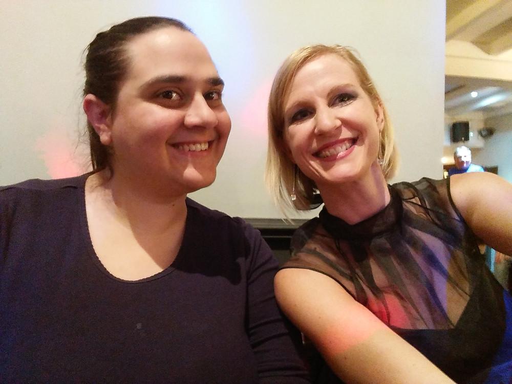 Director Megan Stickler-Sell with our social secretary Emma Harpley
