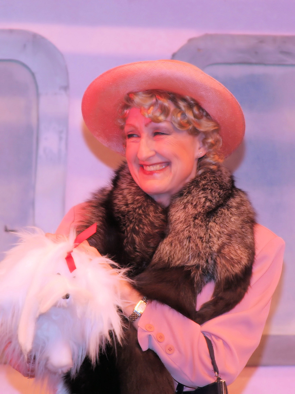 """Chair Madeline Harmer as Mrs Harcourt in """"Anything Goes"""" – a very different musical to """"American Idiot""""...!"""