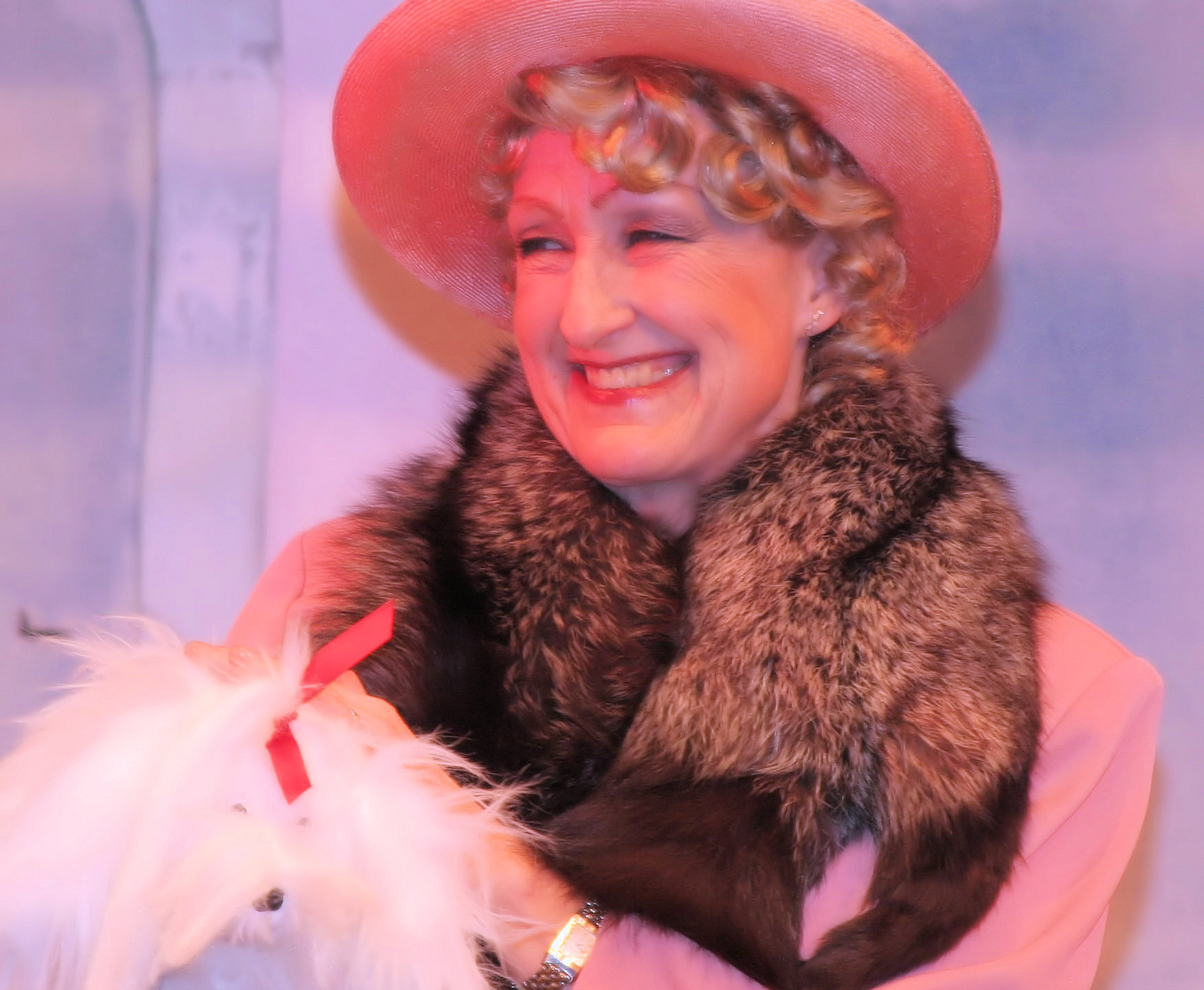 """Madeline Harmer, Pied Pipers Chair 2017-19, as Mrs Harcourt in 2018's """"Anything Goes"""""""