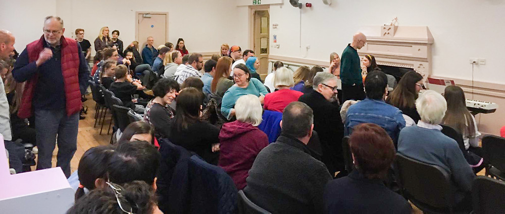 """A packed room of attendees for our """"Chitty"""" Intro Evening"""
