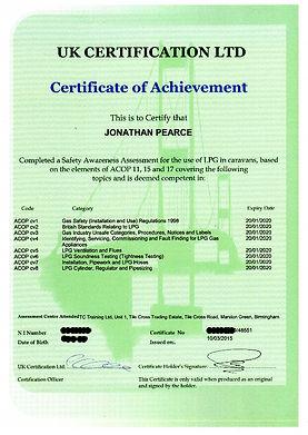 UK Certification For ACOPs