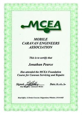 MCEA Certificate
