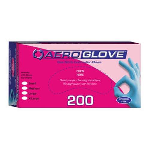 Blue Nitrile Examination Gloves. Powder free.