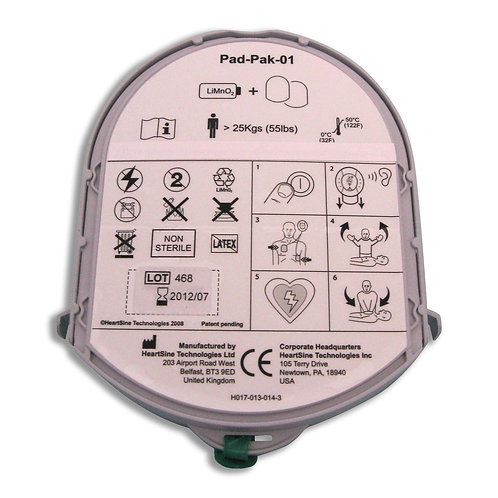 HeartSine Adult Battery and Pads