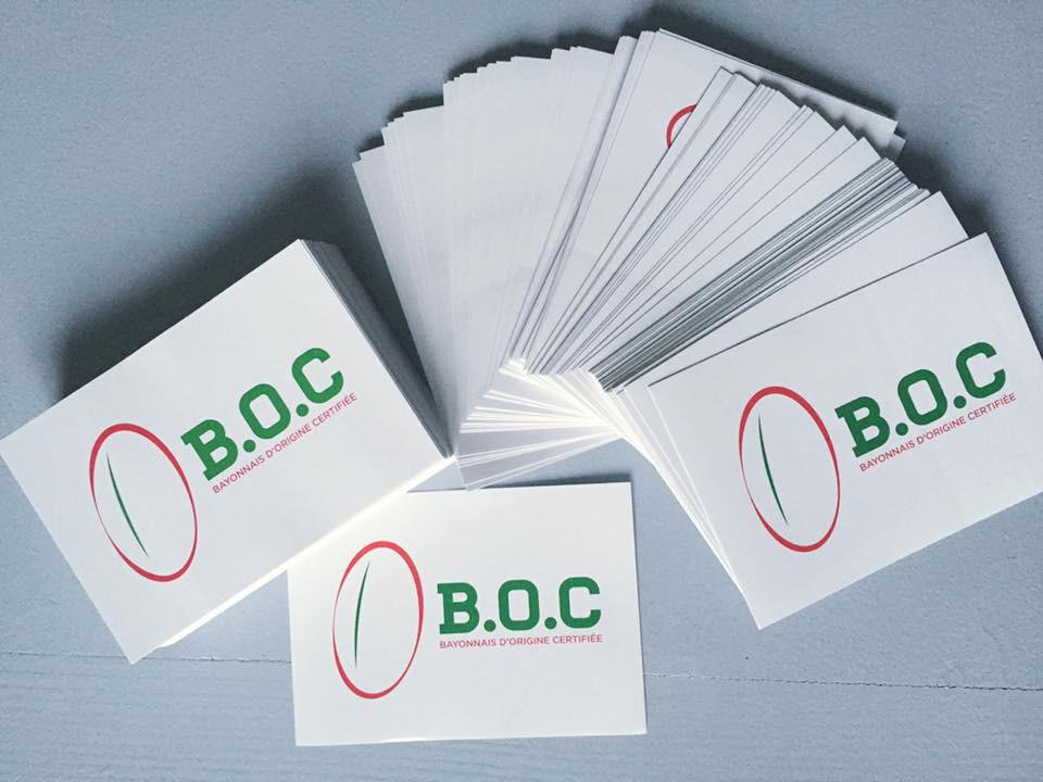 Autocollants BOC - Bayonnais d'Origine Certifiée