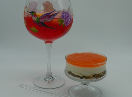 Aperol Spritz Cheesecake - strictly for the adults