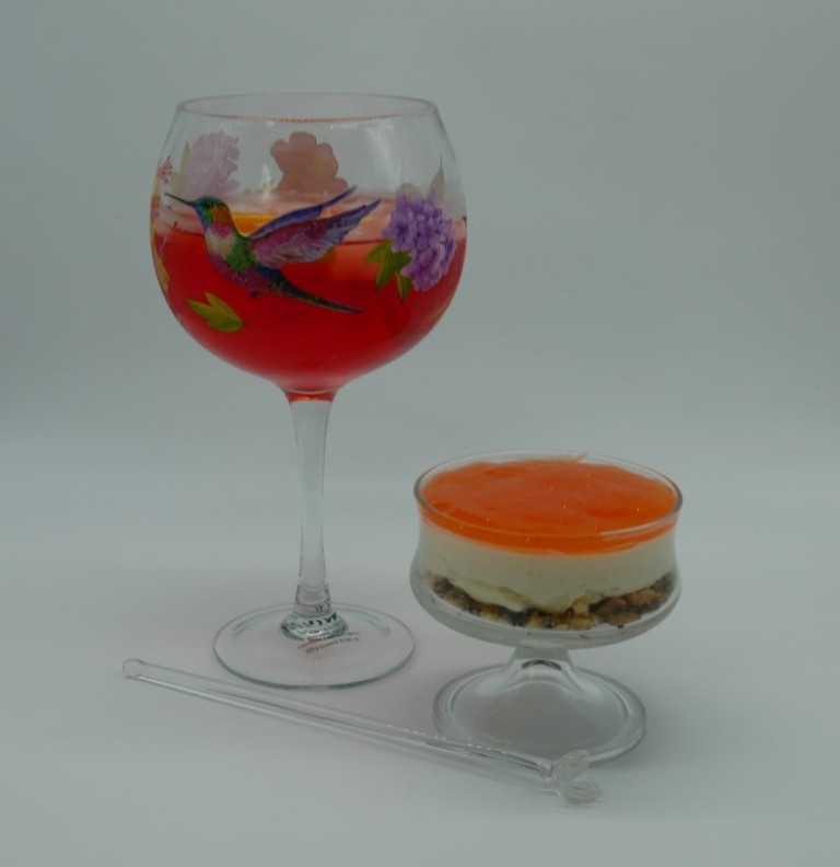Aperol Spritz Cheescake with Jaffa Cake base