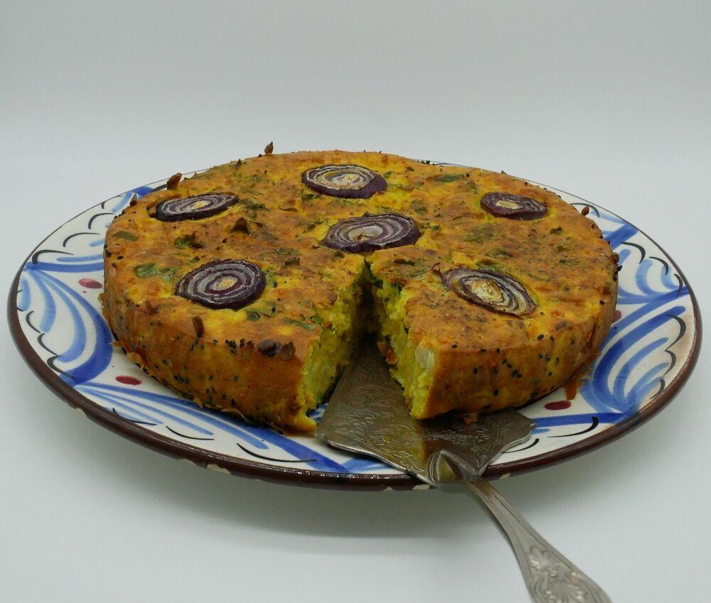 Savoury Cauliflower Cake - gluten free version