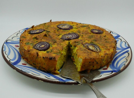 Ottolenghi's savoury Cauliflower Cake: adapted to be gluten-free