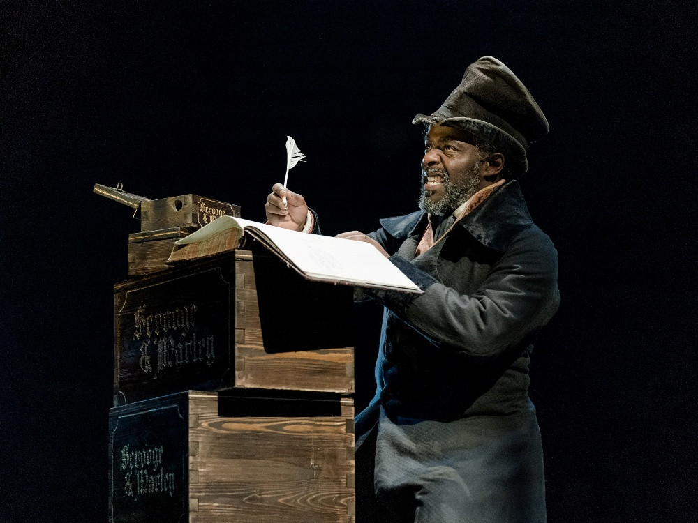 Patterson Joseph as Scrooge at the Old Vic