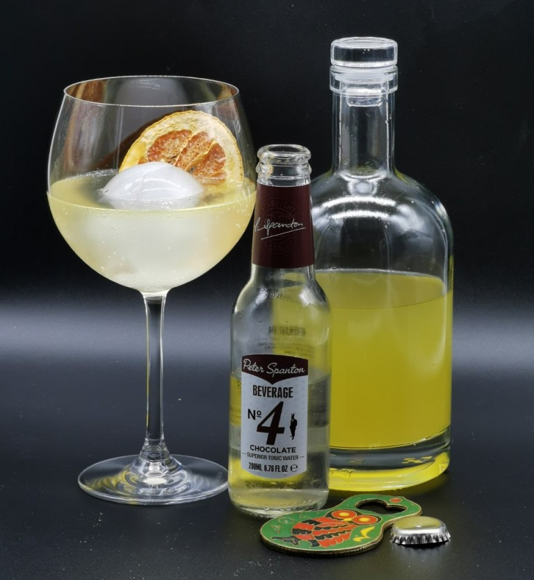 Seville Orange Gin served with chocolate tonic