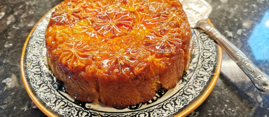 Seasonal cooking: Blood orange Polenta Cake, blood orange Negroni and a Burrata salad