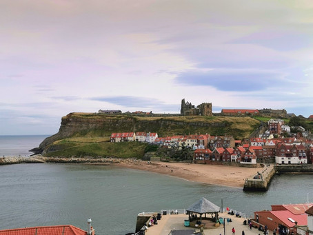 Whitby, the last leg of our road trip.  In search of the Gothic, jet, gin, beer and seafood.