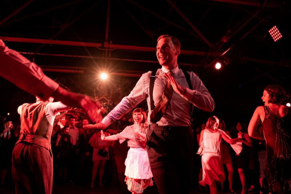 Cast and audience dancing.  Photo credit Sam Taylor
